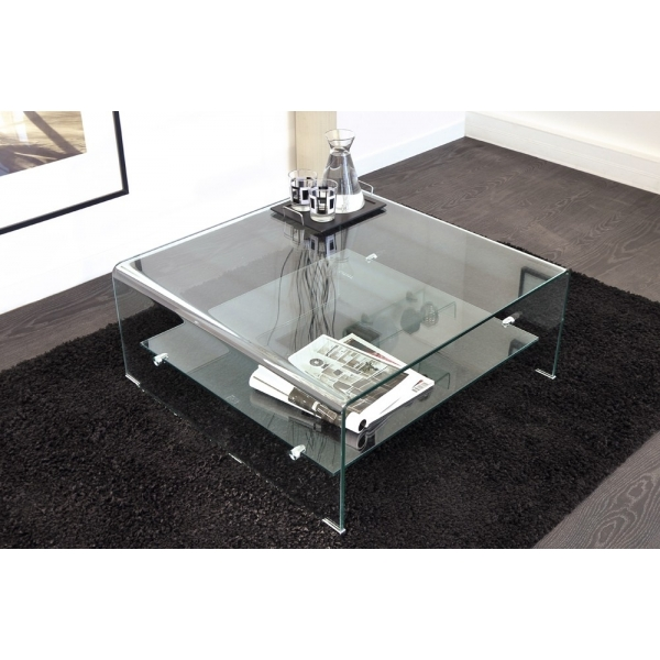 Table Basse Carre Transparente