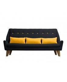 Canapé 3 places GIPSY noir / jaune