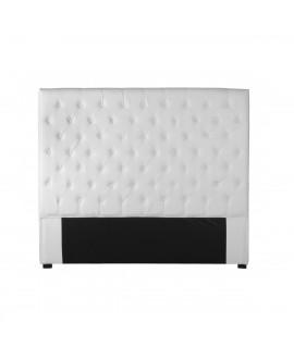 Tête de lit simili-cuir blanc 160 cm