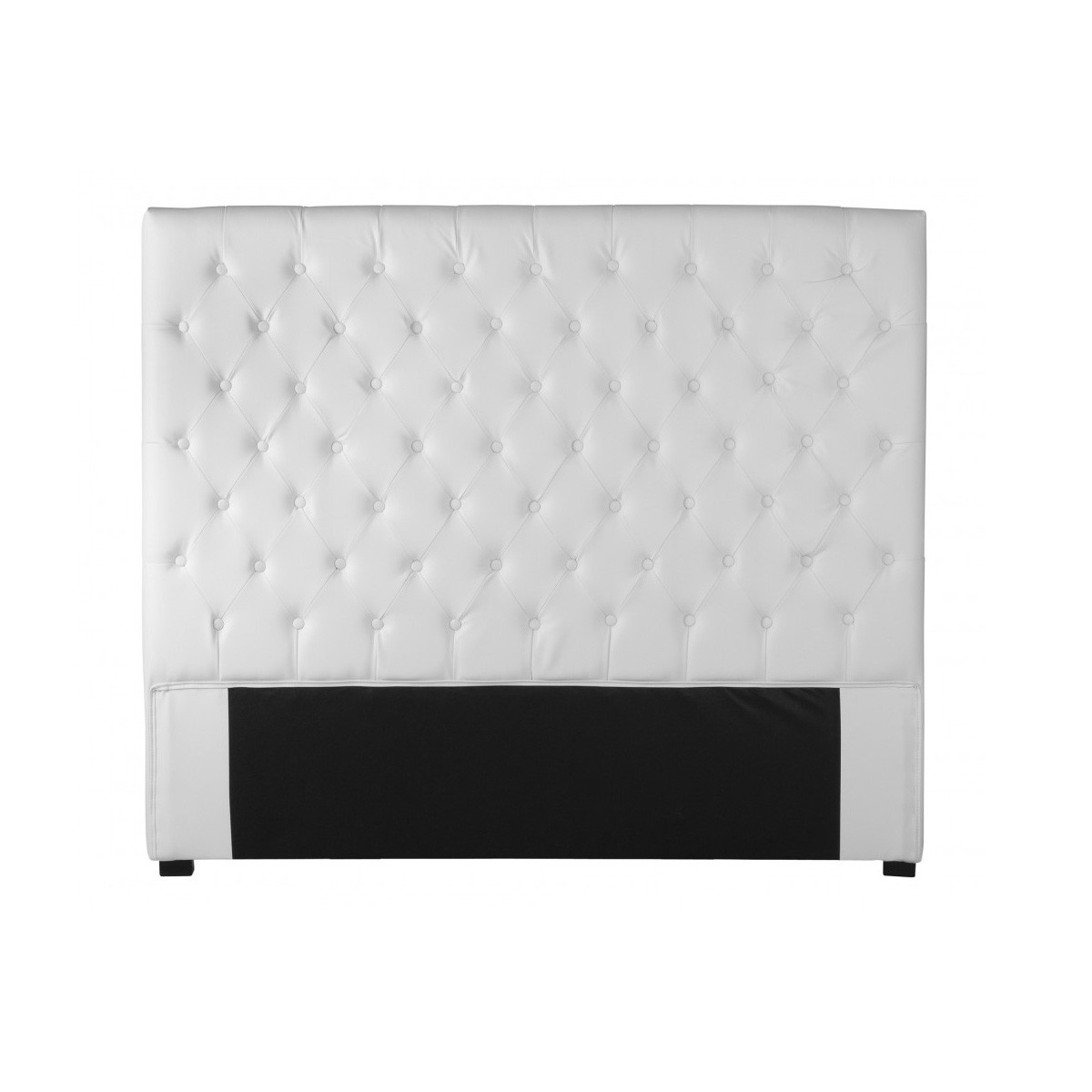 tete de lit capitonn e cuir blanc fashion designs. Black Bedroom Furniture Sets. Home Design Ideas