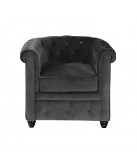 Fauteuil Chesterfield MILOS anthracite