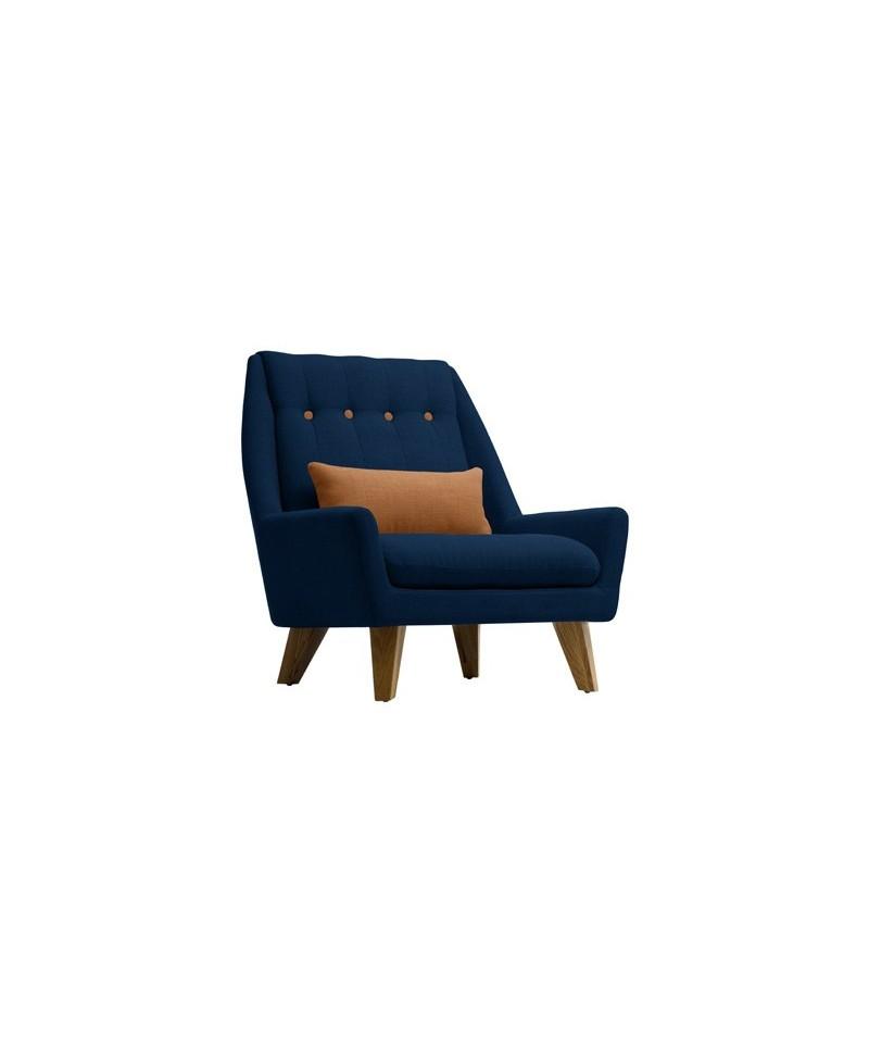 gipsy un fauteuil design bleu caramel. Black Bedroom Furniture Sets. Home Design Ideas
