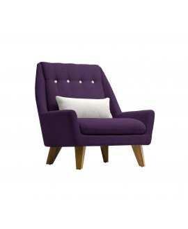 Fauteuil GIPSY aubergine / gris