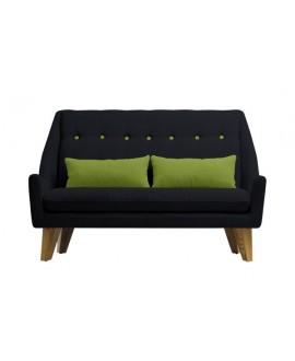Canapé 2 places GIPSY noir / vert