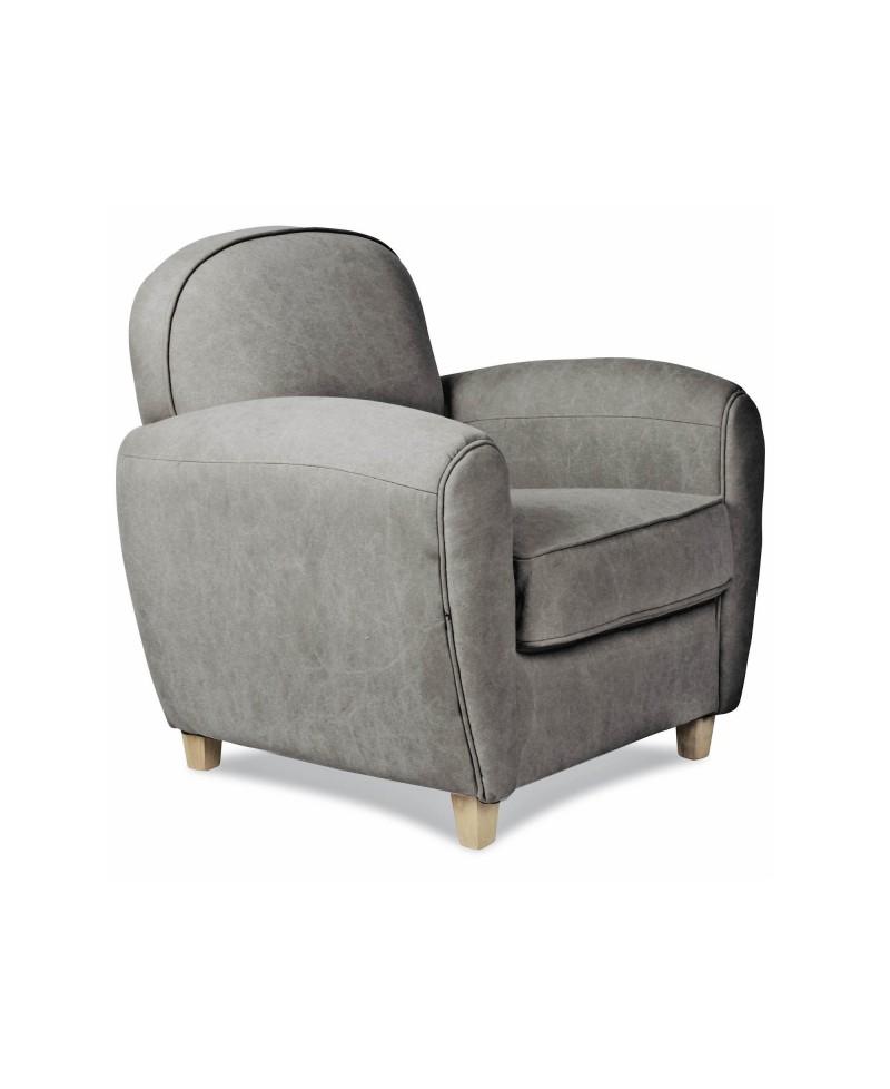 Maya un fauteuil club tissu gris