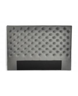 Tête de lit simili-cuir gris 180 cm