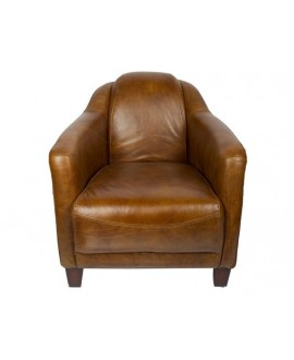 Fauteuil club cigare LINCOLN marron whisky