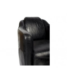 Fauteuil Club Cigare LINCOLN Noir