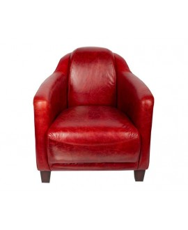 Fauteuil club cigare LINCOLN rouge