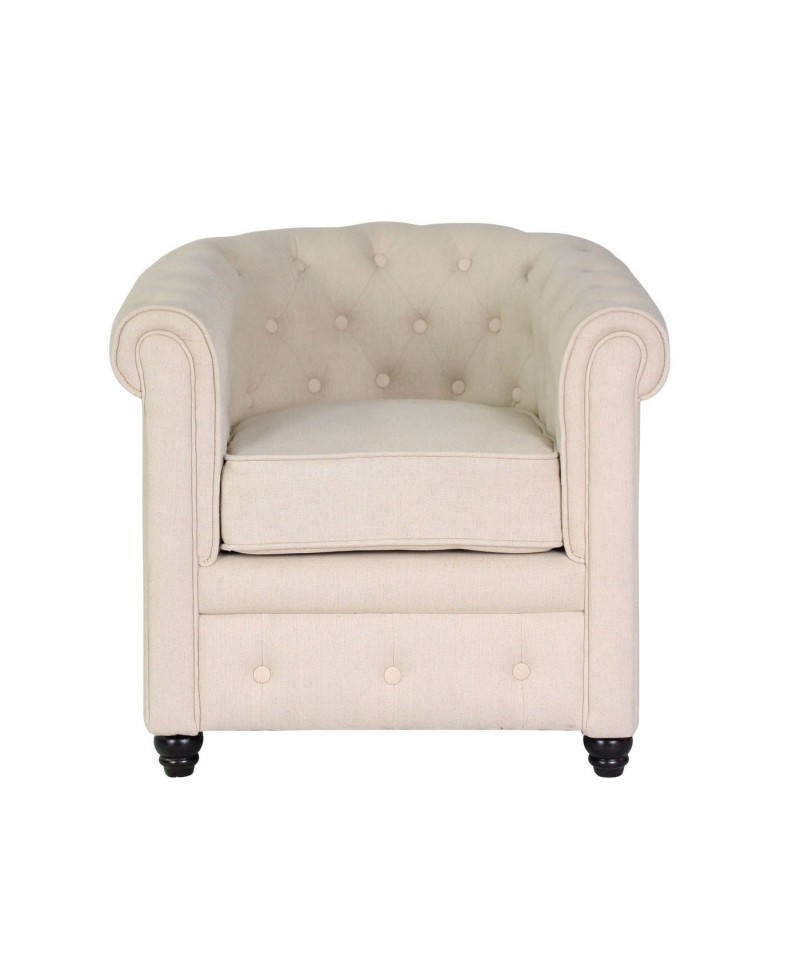 Fauteuil Chesterfield Beige