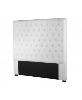 Tête de lit CAPRI simili-cuir blanc 160 cm