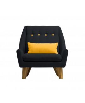Fauteuil GIPSY noir / jaune