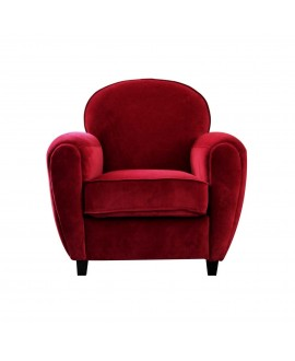 Fauteuil club MAYA rouge