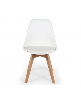 Lot de 2 chaises scandinave ICEBERG blanc