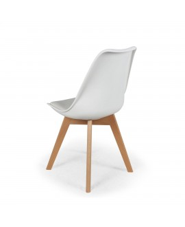 Lot de 2 chaises scandinave ICEBERG blanc