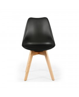 Lot de 2 chaises scandinave ICEBERG noir