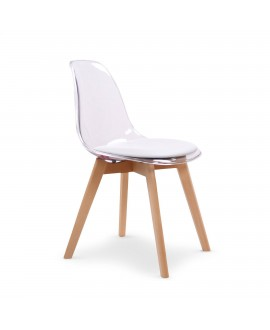 Lot de 2 chaises scandinave FJORD blanc
