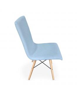 Chaise scandinave YOKO bleu ciel