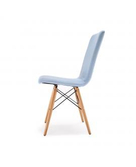 Chaise scandinave YOKO bleu