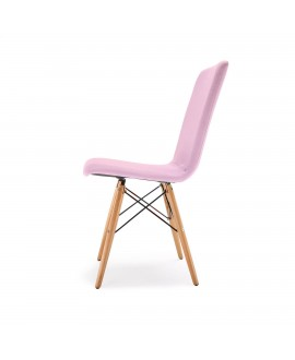 Chaise scandinave YOKO rose dragée