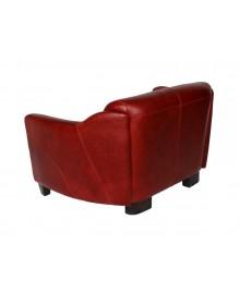 Canapé club LINCOLN cuir rouge