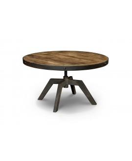 Table basse ronde ARIZONA bois et métal