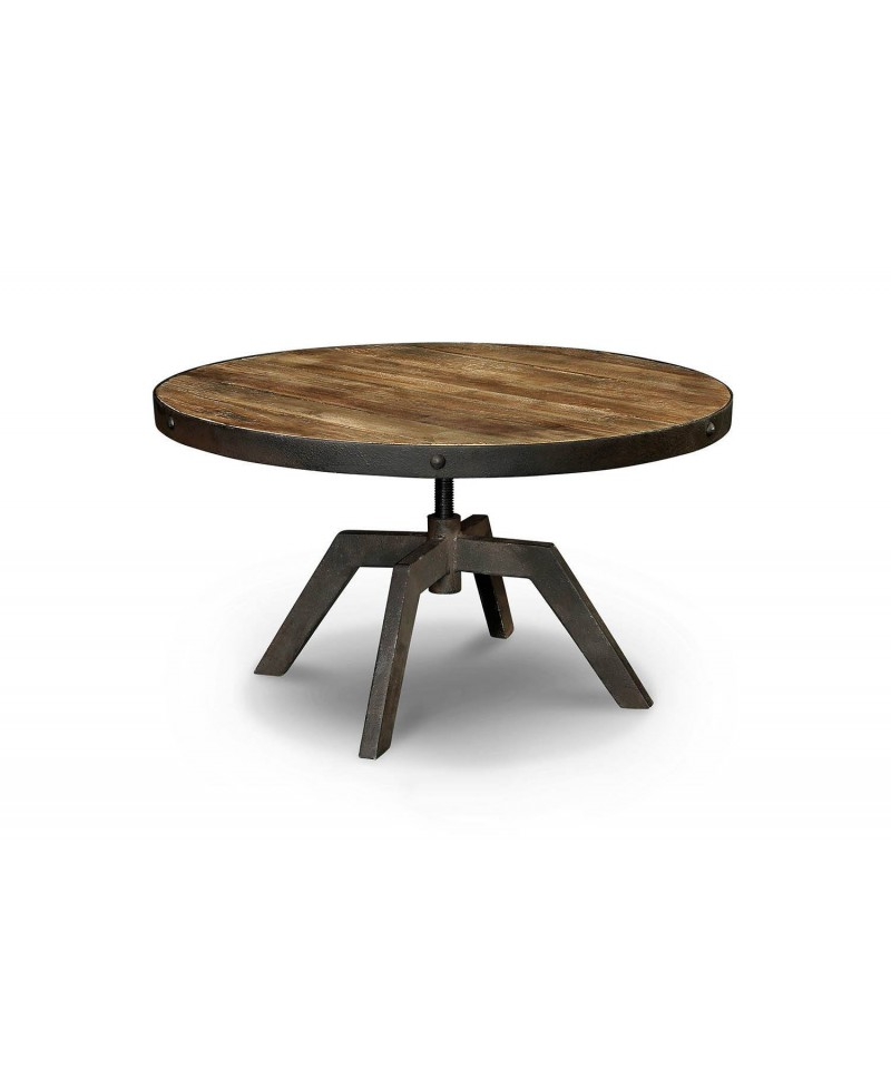 Arizona Table Basse Ronde Bois Métal Monachatdeco Com