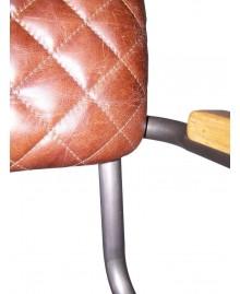 Fauteuil NAPA cuir marron