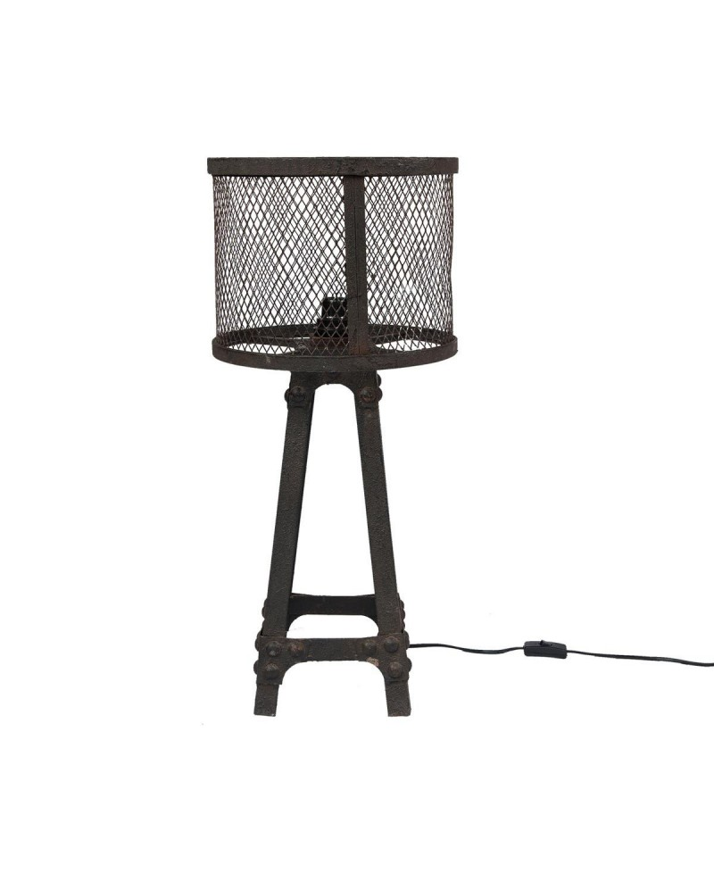 brooklyn lampe de chevet m tal noir vieilli. Black Bedroom Furniture Sets. Home Design Ideas