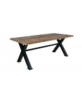 Table salle manger table extensible mon achat deco - Table bois et metal salle manger ...