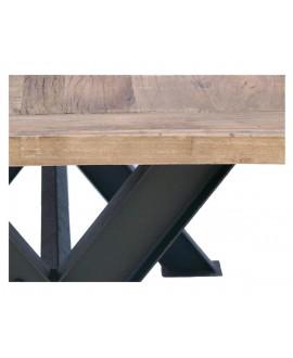 Table de salle à manger SONOMA bois naturel et métal
