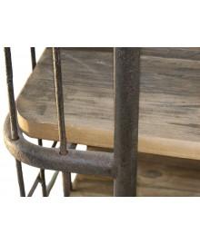 Bout de canapé BRONX bois et métal