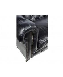 Canapé chesterfield FLEMING XL cuir noir