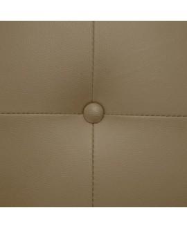 Tête de lit CAPRI simili-cuir taupe 160 cm