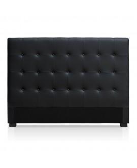 Tête de lit CAPRI simili-cuir noir 160 cm