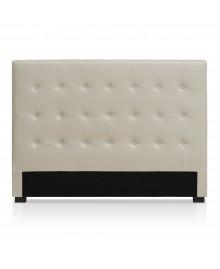 Tête de lit CAPRI simili-cuir beige 160 cm