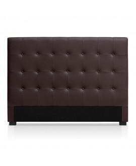 Tête de lit CAPRI simili-cuir marron 160 cm