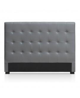 Tête de lit CAPRI simili-cuir gris fer 160 cm