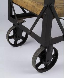 Etagère trolley ALAMO bois et métal