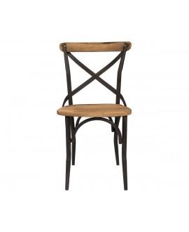 Chaise bistrot CANA bois et métal