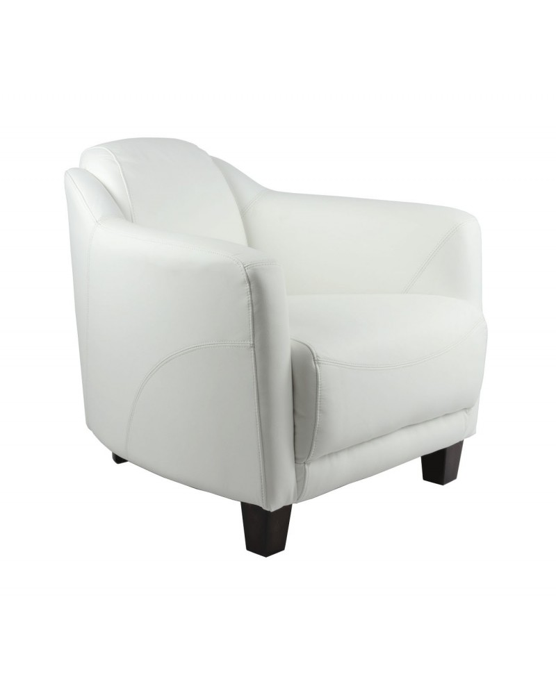 lincoln un fauteuil club cuir blanc neige. Black Bedroom Furniture Sets. Home Design Ideas