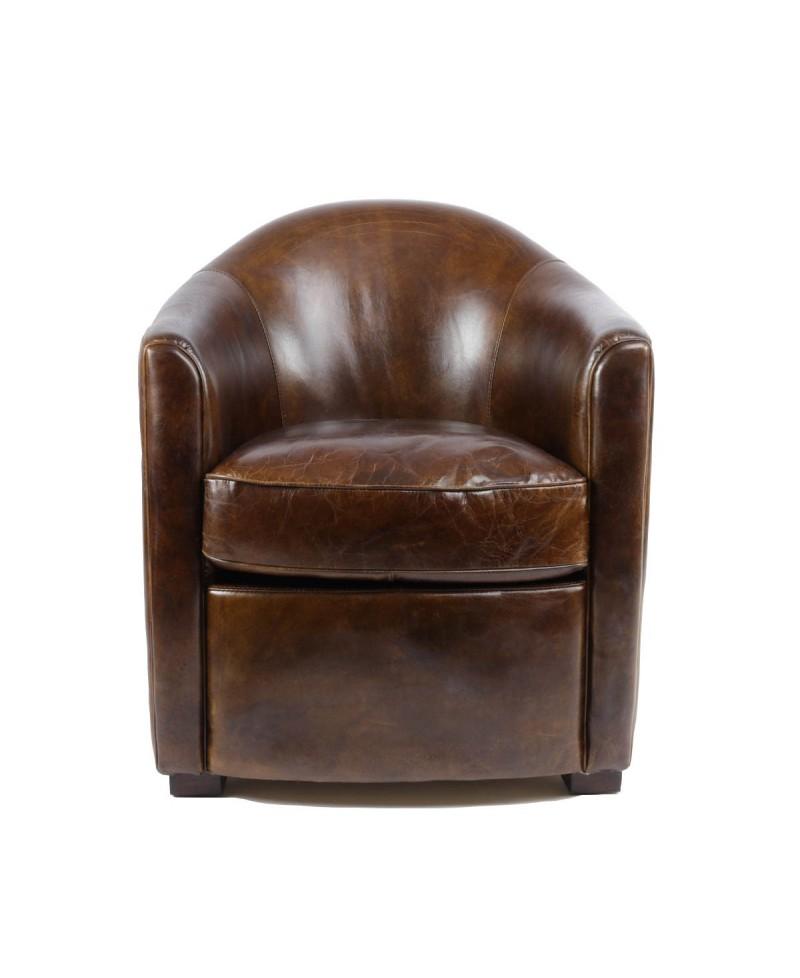 Windsor un fauteuil club cuir marron vintage