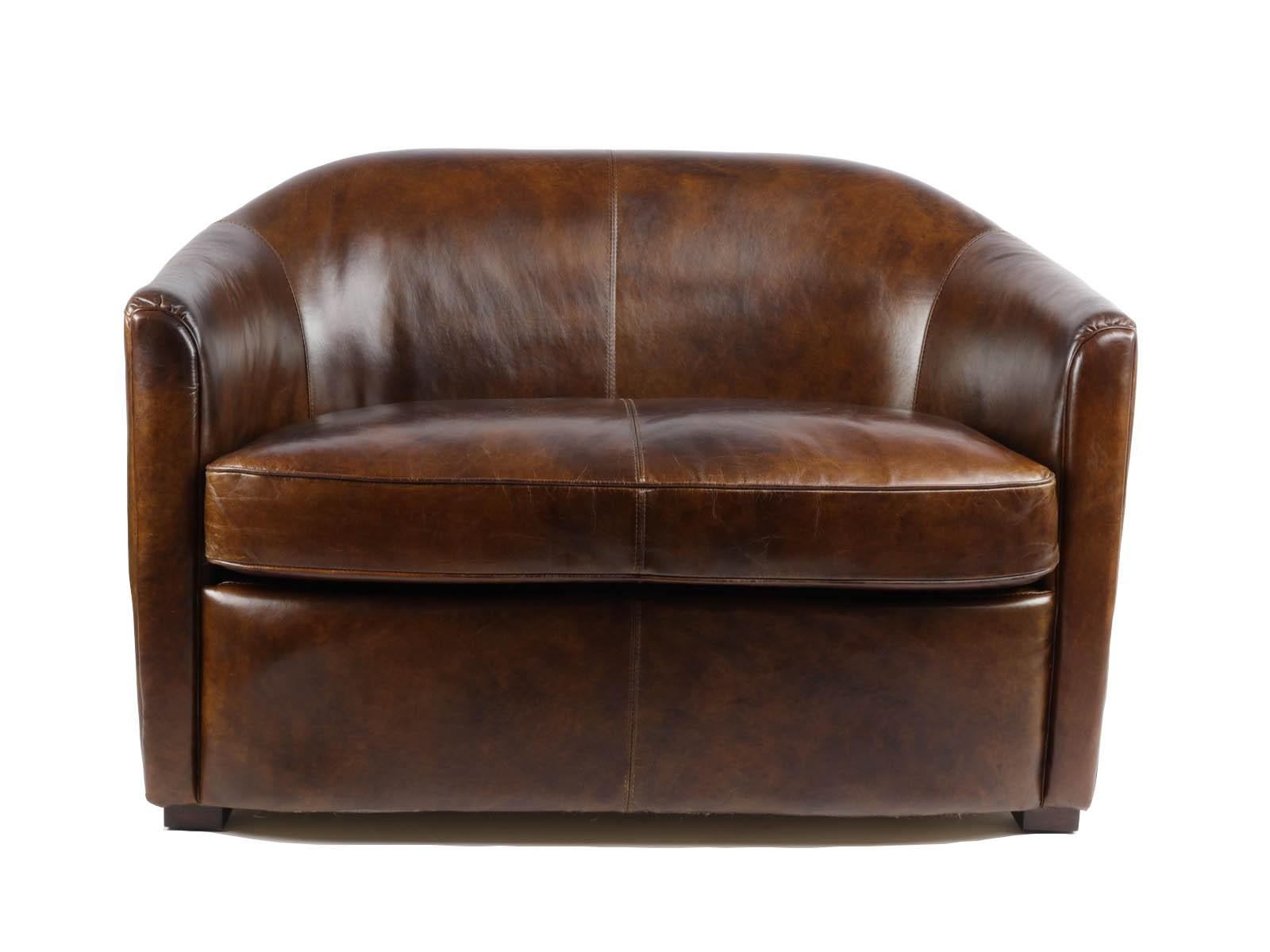 Inspirational Canapé Cuir Marron Vintage