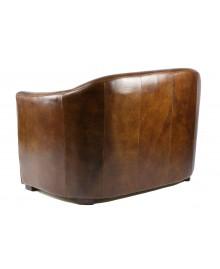 Canapé club WINDSOR cuir marron vintage
