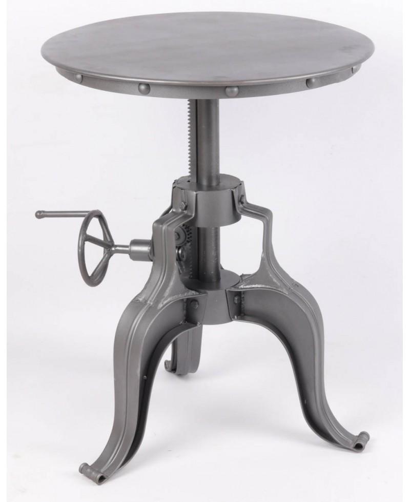 Table d'appoint ronde IRON en métal