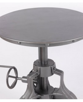 Table d'appoint ronde IRON en métal
