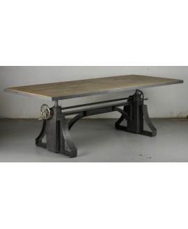 Table de repas industriel EDISON 240 cm