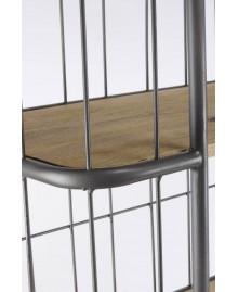 Etagère cage BRONX bois et métal