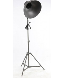Lampadaire projecteur HOLLYWOOD métal gris