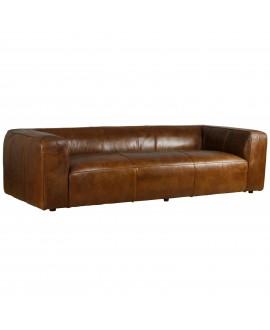 Canapé cube XXL NEVADA cuir marron vintage